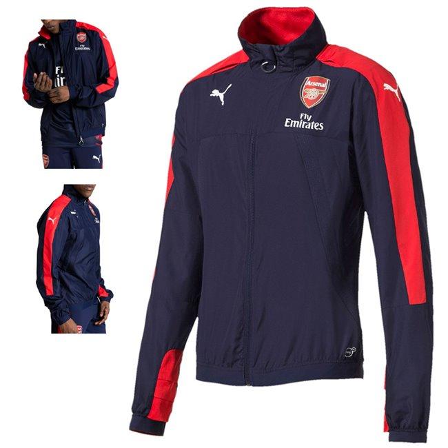 Arsenal FC Stadium Vent Jacket pánská bunda, Barva: tmavě modrá, červená, Materiál: 100% polyester - Objednejte nyní online na Pumashop.cz.