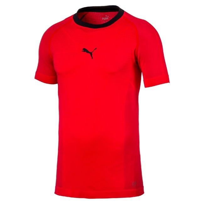 PUMA evoTRG evoKNIT Tee pánské tričko, Barva: růžová, Materiál: 74% polyamid 19% polyester 7% elastan - Objednejte nyní online na Pumashop.cz.