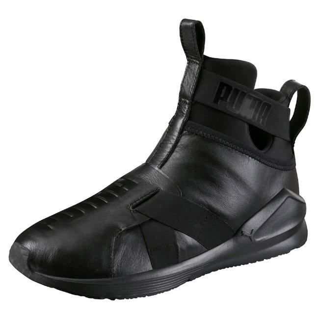 PUMA Fierce Strap Leather Wns dámské boty, Barva: černá, Materiál: Svršek: mesh, Podešev: guma - Objednejte nyní online na Pumashop.cz.