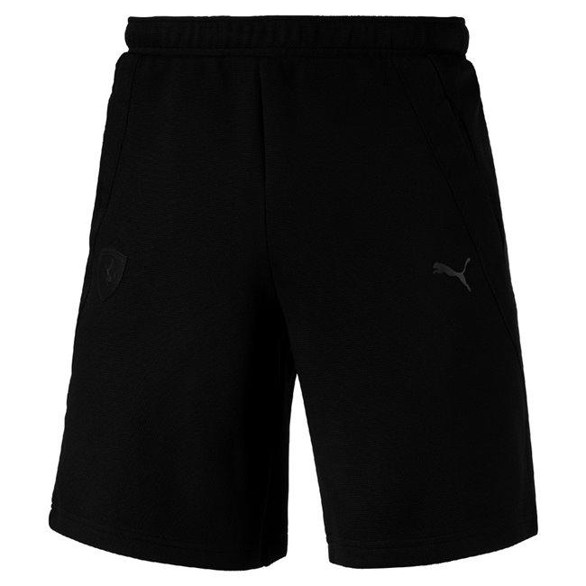PUMA Ferrari Sweat Shorts pánské šortky, Barva: černá, Materiál: 65% polyester, 35% bavlna - Objednejte nyní online na Pumashop.cz.