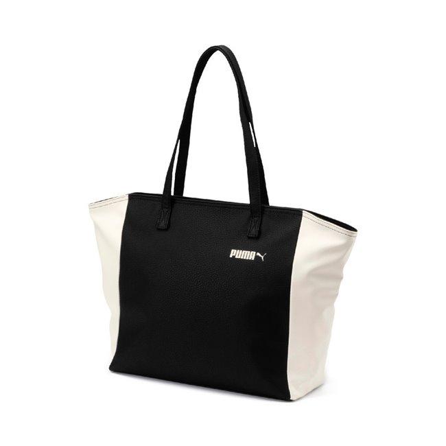 PUMA Prime Classics Large Shopper dámská taška, Barva: černá, Materiál: 100% Polyurethan, Velikost: 34 x 31 x 12.5 cm, objem: 12l - Objednejte nyní online na Pumashop.cz.