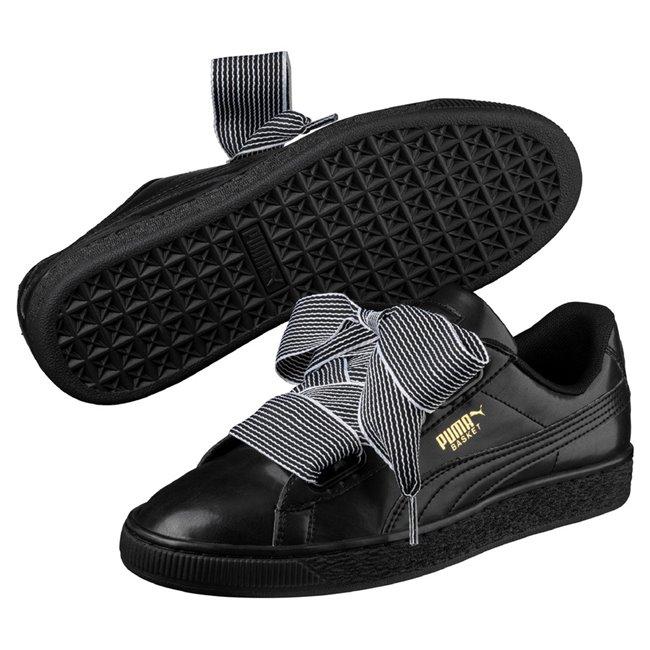 PUMA Basket Heart wns dámské boty, Barva: černá, Materiál: Svršek: syntetická vlákna, Mezipodešev: guma, Podešev: guma - Objednejte nyní online na Pumashop.cz.