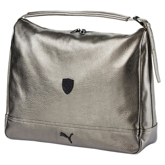 Ferrari LS Hobo Handbag dámská kabelka, Barva: šedá, Materiál: 100% Polyurethan, Velikost: 39 x 33 x 14 cm, objem: 13L - Objednejte nyní online na Pumashop.cz.