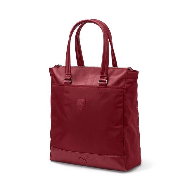 Ferrari LS Shopper dámská taška, Barva: vínová, Materiál: 61% Nylon 39% Polyurethan, Velikost: 35 x 41 x 14 cm, objem: 12.5L - Objednejte nyní online na Pumashop.cz.