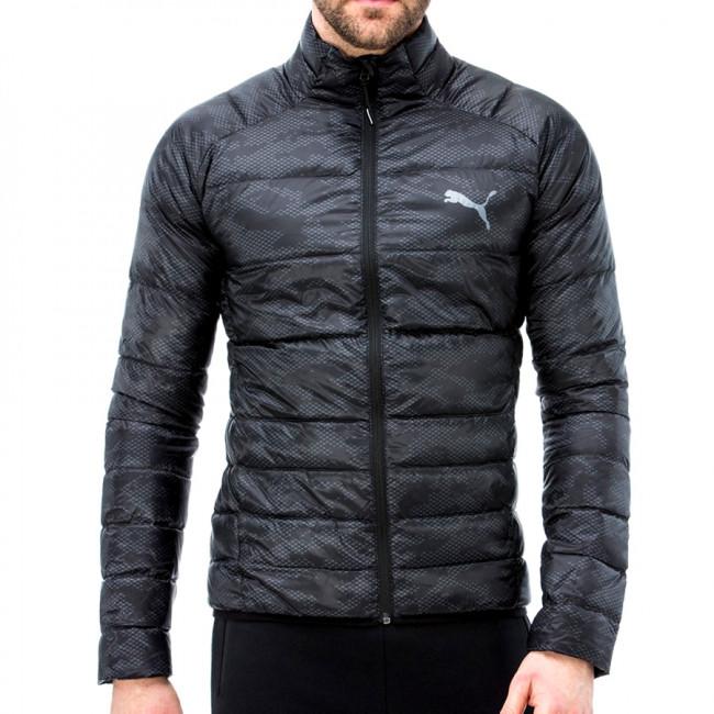 PUMA PWRWarm packLITE 600 Dwn AOP pánská zimní bunda, Barva: černá, Materiál: 100% polyester - Objednejte nyní online na Pumashop.cz.