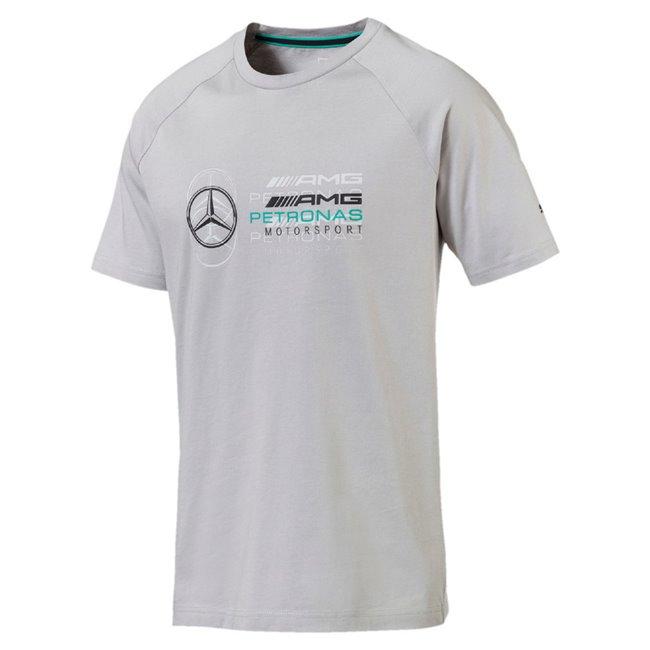 Mercedes MAPM Logo Tee pánské tričko, Barva: mercedes stříbrná, Materiál: 100% bavlna, Pánské stylové triko PUMA Mercedes ze 100% bavlny. - Objednejte nyní online na Pumashop.cz.
