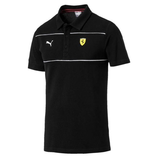 Ferrari SF Polo pánské tričko, Barva: černá, Materiál: 100% bavlna, Pánské polo z kolekce PUMA Ferrari. Vyrobené ze 100% bavlny. - Objednejte nyní online na Pumashop.cz.