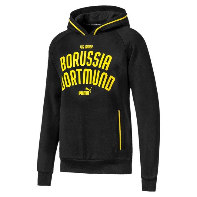 Borussia BVB Premium Hoody pánská mikina, Barva: černá, Materiál: bavlna, polyester, 0 - Objednejte nyní online na Pumashop.cz.
