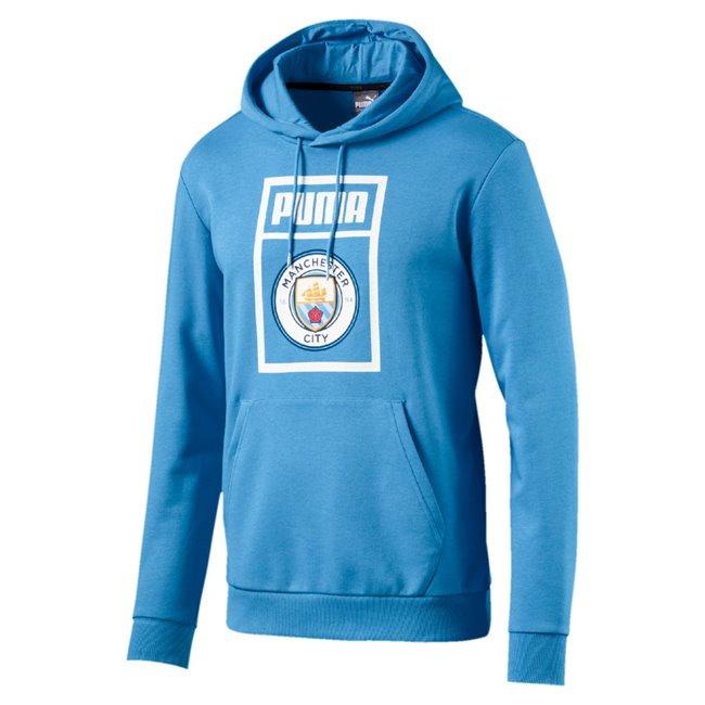 Manchester City MCFC Shoe Tag Hoody pánská mikina, Barva: modrá, Materiál: bavlna, polyester, 0 - Objednejte nyní online na Pumashop.cz.