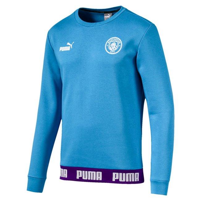 Manchester City MCFC FtblCulture Sweater pánská mikina, Barva: modrá, Materiál: bavlna, polyester, 0 - Objednejte nyní online na Pumashop.cz.