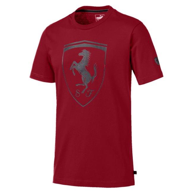 Ferrari Big Shield Tee pánské tričko, Barva: vínová, Materiál: bavlna, Pánské moderní triko PUMA Ferrari ze 100% bavlny. - Objednejte nyní online na Pumashop.cz.