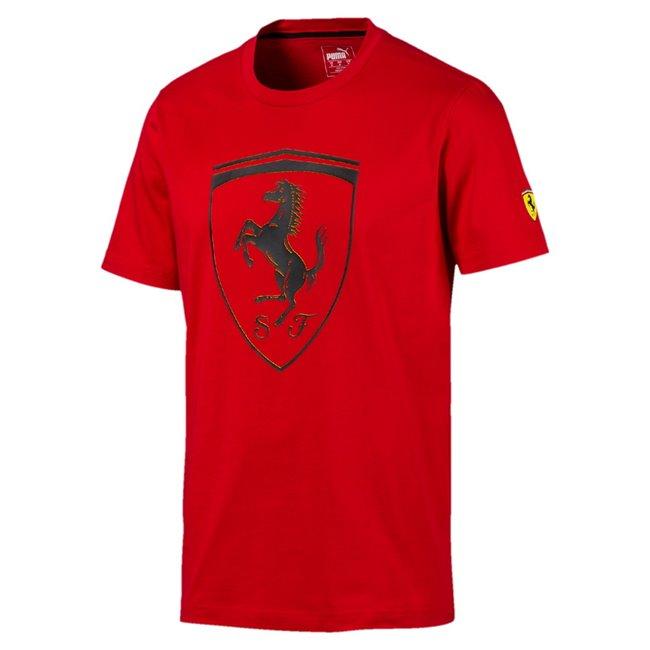 Ferrari SF Big Shield Tee pánské tričko, Barva: červená, Materiál: bavlna, Pánské moderní triko z kolekce PUMA Ferrari ze 100% bavlny, které musí mít každý fanoušek Ferrari. - Objednejte nyní online na Pumashop.cz.