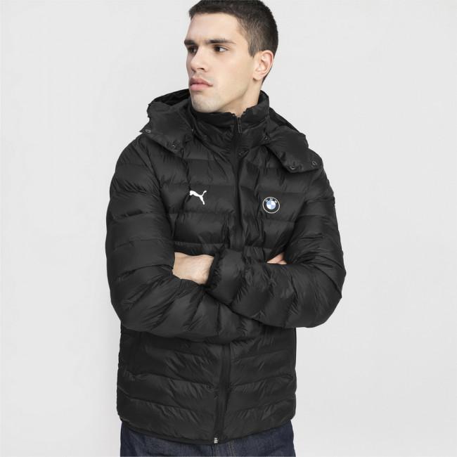 BMW MMS Eco PackLite Jacket zimní bunda, Barva: černá, Materiál: polyester, s kapucí, logo BMW, 2 boční kapsy - Objednejte nyní online na Pumashop.cz.