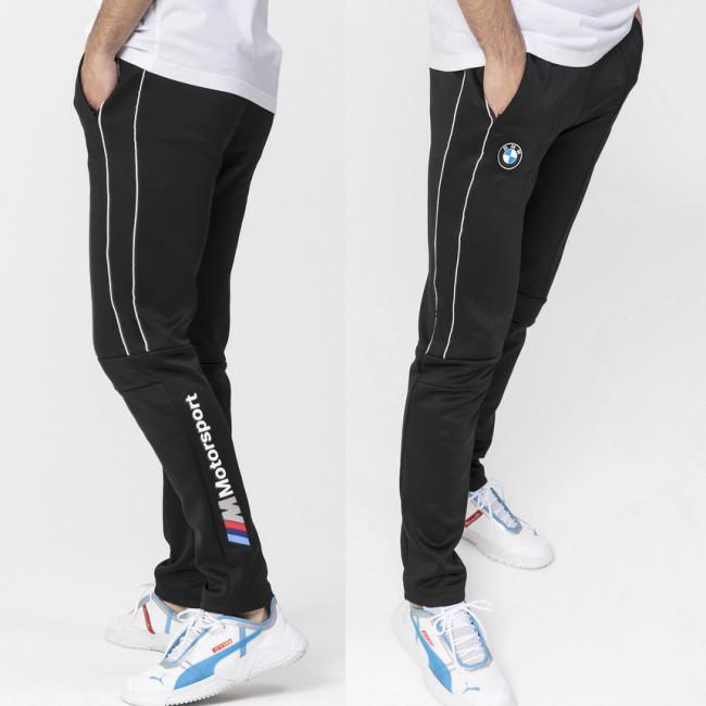 BMW MMS T7 Track Pants pánské kalhoty, Barva: černá, Materiál: polyester, bavlna, Pánské moderní tepláky PUMA BMW a M Motorsport. - Objednejte nyní online na Pumashop.cz.