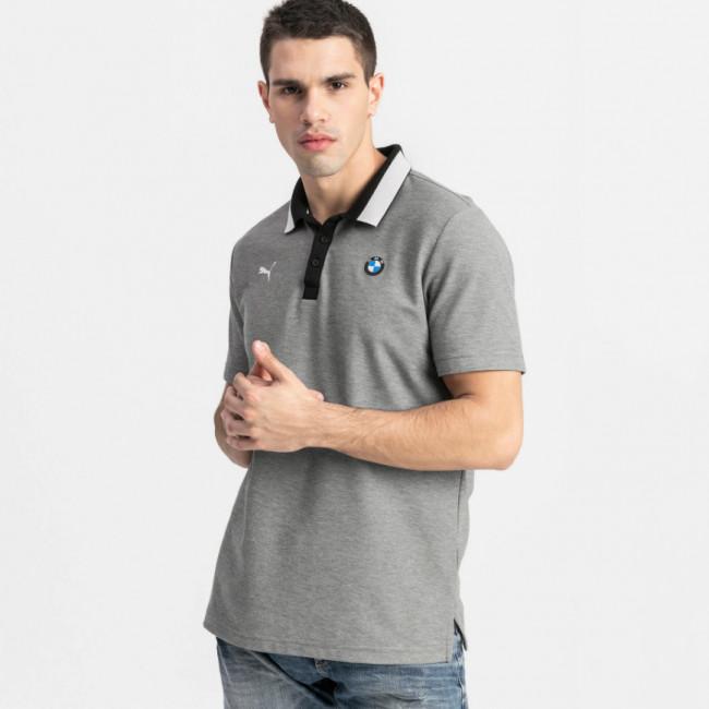BMW MMS Polo pánské tričko, Barva: šedá, Materiál: bavlna, polyester, Pánské moderní triko s límečkem PUMA BMW a M Motorsport. - Objednejte nyní online na Pumashop.cz.