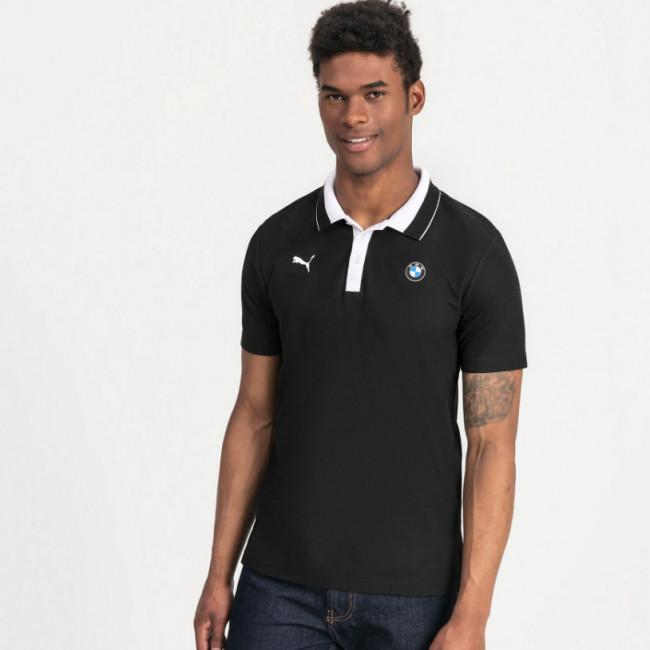 BMW MMS Polo pánské tričko, Barva: černá, Materiál: bavlna, polyester, Pánské moderní triko s límečkem PUMA BMW a M Motorsport. - Objednejte nyní online na Pumashop.cz.