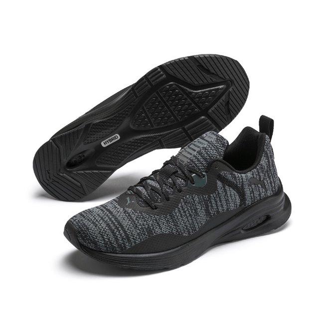PUMA Hybrid Fuego Knit pánské boty, Barva: černá, Ostatní: Sportovní boty Hybrid Fuego Knit jsou nejčerstvější novinkou mezi běžeckými botami. tyto boty kombinují technologii dvou speciálních pěn IGNITE a NRGY, díky nimž je zaručeno 100% pohodlí. Vhodné ke každodennímu sportování. - Objednejte nyní online na Pumashop.cz.