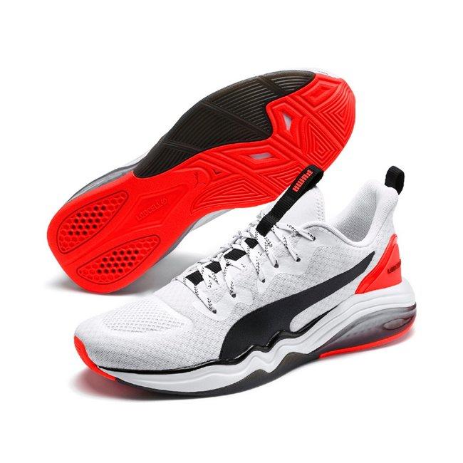 PUMA LQDCELL Tension pánské boty, Barva: bílá, Materiál: Svršek: mesh, Mezipodešev: LQDCELL, Podešev: guma, Ostatní: Pánské sportovní boty LQDCELL Tension jsou přímo revoluční! Vyrobeny z prvotřídního, prodyšného materiálu, vnitřek tvořen speciální pěnou SoftFoam+ pro perfektní pohodlí při sportovním výkonu, kvalitní gumová podrážka zajistí 100% stabilitu. Tyhle boty musíte mít! - Objednejte nyní online na Pumashop.cz.