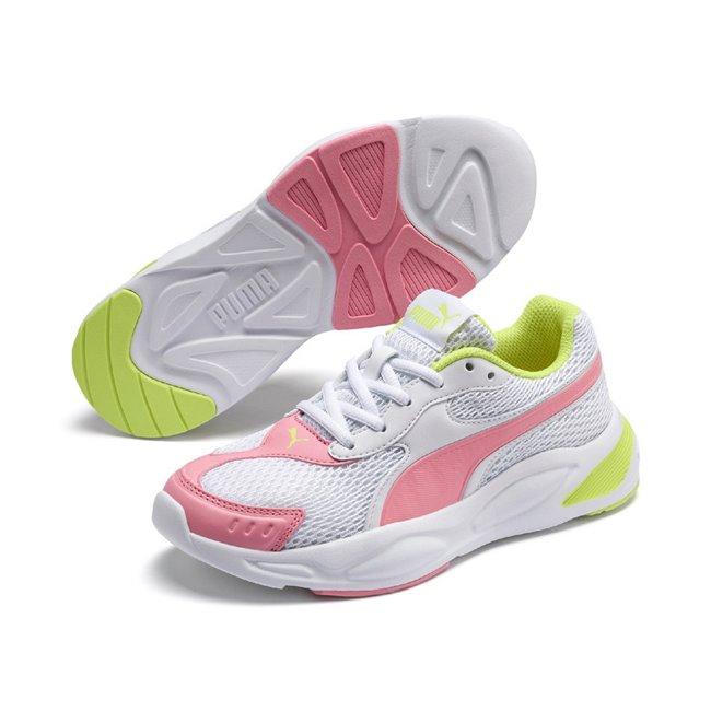 PUMA 90s Runner Mesh dámské boty, Barva: bílá, Materiál: Svršek: mesh, syntetická kůže, Mezipodešev: IMEVA, Podešev: guma, Ostatní: Sportovní boty 90s Runner Mesh Jr jsou vyrobeny z vysoce kvalitního materiálu, takže jejich dlouhá životnost je zaručena. Vnitřní stélka boty je vyrobena ze speciální SoftFoam+ pěny, která se stará o maximální pohodlí a oporu při nošení. Bota je vhodná ke každodennímu nošení. - Objednejte nyní online na Pumashop.cz.