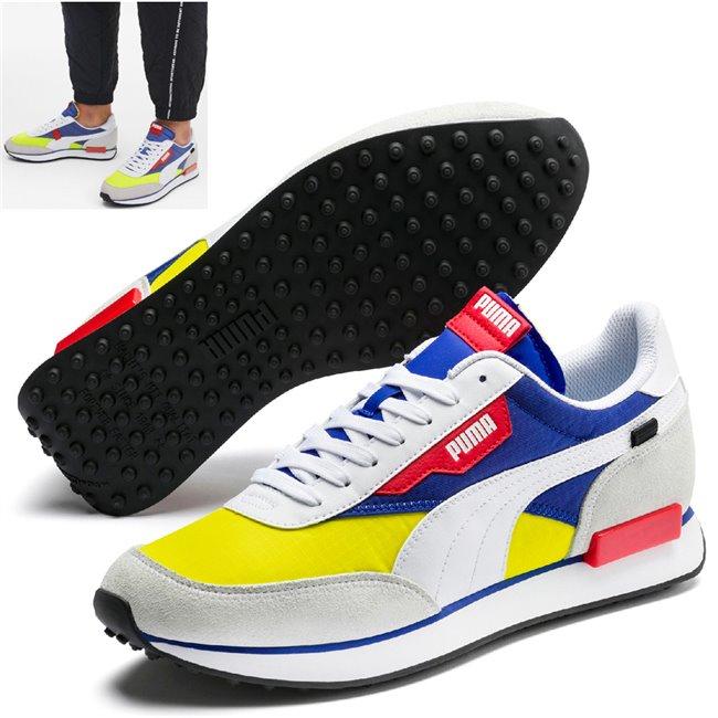 PUMA FUTURE RIDER PLAY ON boty, Barva: bílá, Materiál: Svršek: textílie, Mezipodešev: IMEVA, Podešev: guma, Ostatní: Futuristický vzhled, prvotřídní kvalita materiálu, styl - tím vším jsou boty z řady Rider. Vyrobeny z kombinace semiše a kůže, vnitřní stélka vybavena speciální pěnou SoftFoam+ zaručuje potřebný komfort a oporu při nošení. Tyto boty prostě musíte mít! - Objednejte nyní online na Pumashop.cz.