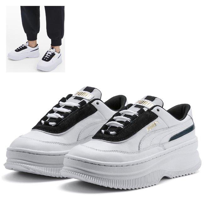 PUMA Deva Chic Wns dámské boty, Barva: bílá, Materiál: Svršek: kůže, Mezipodešev: guma, Podešev: guma, Ostatní: Sportovní boty z řady Deva vyrobeny z vysoce kvalitního materiálu, takže jejich dlouhá životnost je zaručena. Vnitřní stélka boty je vyrobena ze speciální SoftFoam+ pěny, která se stará o maximální pohodlí a oporu při nošení. Bota je vhodná ke každodennímu nošení. - Objednejte nyní online na Pumashop.cz.