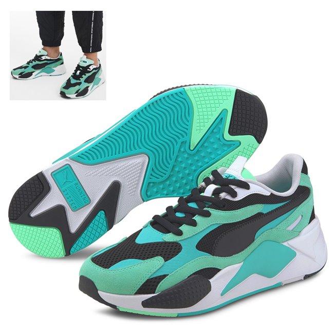 PUMA RS-X SUPER boty, Barva: zelená, Materiál: Svršek: mesh, Mezipodešev: PU, Podešev: guma, Ostatní: Sportovní boty z řady RS jsou vyrobeny z vysoce kvalitního materiálu, vnitřní stélka je vybavena speciální pěnou SoftFoam+, která zaručuje potřebný komfort a oporu při nošení. Tyto boty prostě musíte mít! - Objednejte nyní online na Pumashop.cz.