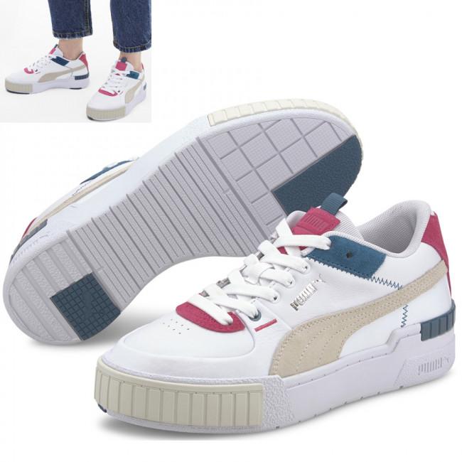 PUMA Cali Sport Mix dámské boty, Barva: bílá, šedá, modrá, Materiál: kůže, Ostatní: Moderní sportovní boty Cali vyrobeny z vysoce kvalitního materiálu, takže jejich dlouhá životnost je zaručena. Vnitřní stélka boty je vyrobena ze speciální SoftFoam+ pěny, která se stará o maximální pohodlí a oporu při nošení. Bota je vhodná ke každodennímu nošení. - Objednejte nyní online na Pumashop.cz.