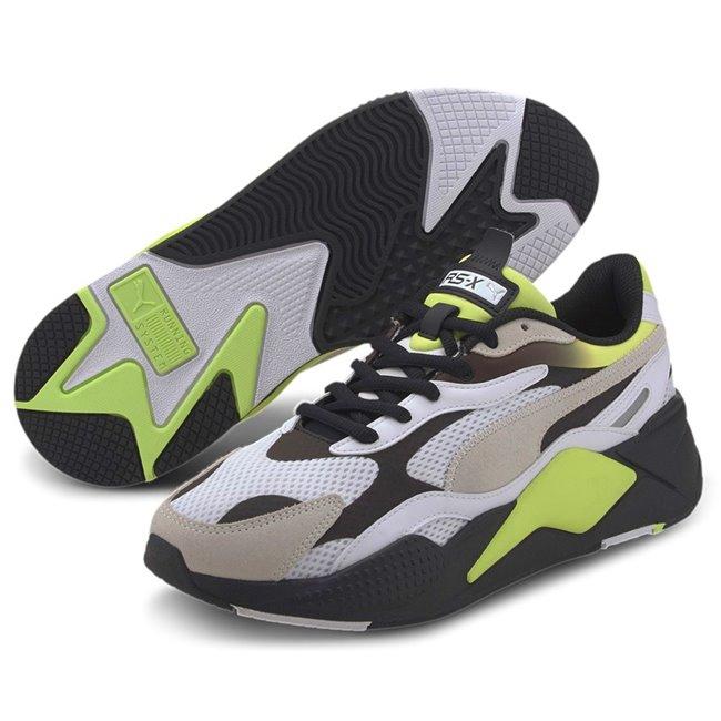 PUMA RS-X Neo Fade boty, Barva: bílá, žlutá, černá, Materiál: Mesh, Ostatní: Sportovní boty z řady RS jsou vyrobeny z vysoce kvalitního materiálu, vnitřní stélka je vybavena speciální pěnou SoftFoam+, která zaručuje potřebný komfort a oporu při nošení. Tyto boty prostě musíte mít! - Objednejte nyní online na Pumashop.cz.