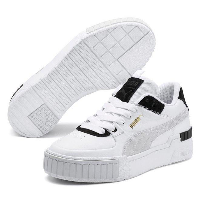 PUMA Cali Sport Mix Wns dámské boty, Barva: bílá, Ostatní: Moderní sportovní boty Cali vyrobeny z vysoce kvalitního materiálu, takže jejich dlouhá životnost je zaručena. Vnitřní stélka boty je vyrobena ze speciální SoftFoam+ pěny, která se stará o maximální pohodlí a oporu při nošení. Bota je vhodná ke každodennímu nošení. - Objednejte nyní online na Pumashop.cz.