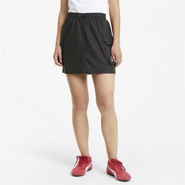 PUMA Classics Cargo Skirt dámská sukně, Barva: černá, Materiál: polyester, Ostatní: Sportovní dámská sukně, vyrobena z vysoce pohodlného materiálu. - Objednejte nyní online na Pumashop.cz.