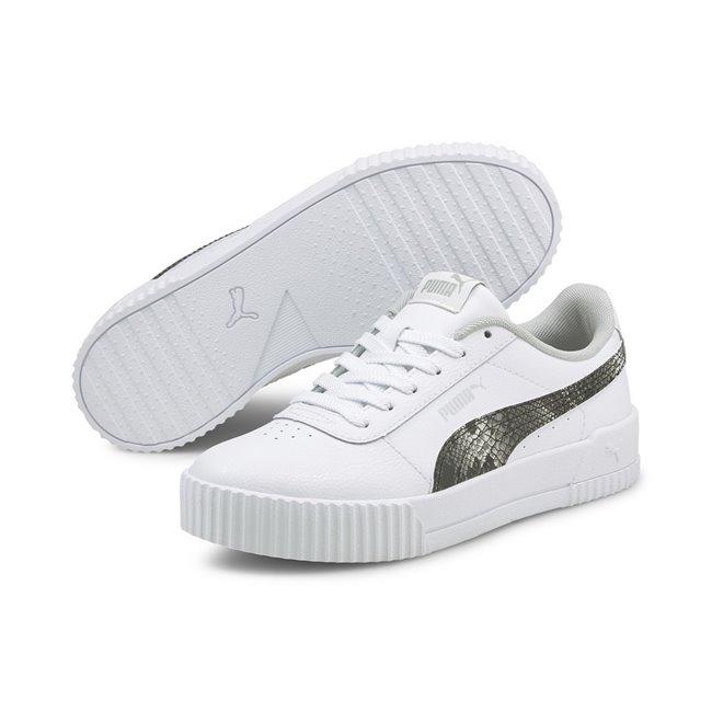 PUMA Carina L Snake FS dámské boty, Barva: bílá, Materiál: syntetická kůže, guma, Dámské boty, které z vás udělají sportovní hvězdu! Jsou vyrobeny z měkké kůže, vnitřní stélka je díky pěně SoftFoam+ perfektně pohodlná, takže ani nebudete vědět, že tyhle boty nosíte. - Objednejte nyní online na Pumashop.cz.