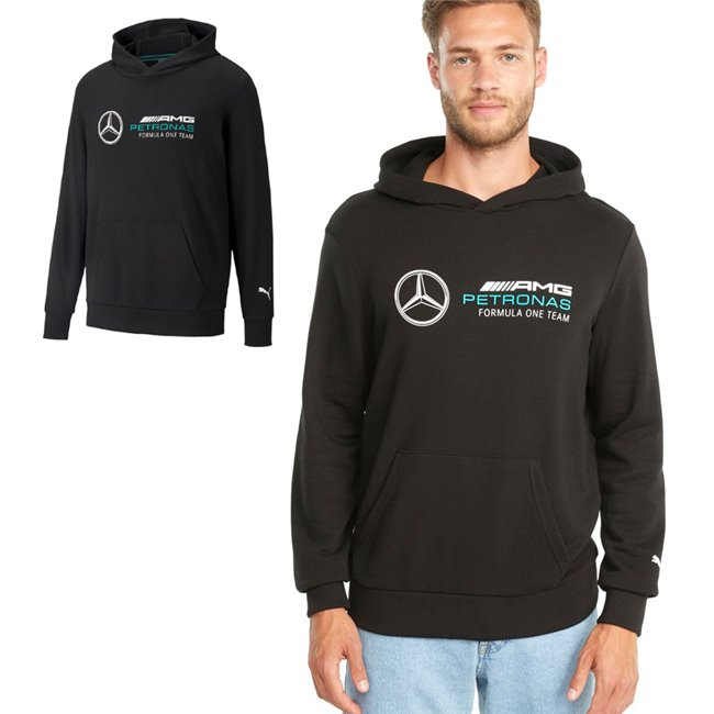 PUMA Mercedes MAPF1 ESS Hoodie pánská mikina, Barva: černá, Materiál: bavlna, polyester,  - Objednejte nyní online na Pumashop.cz.