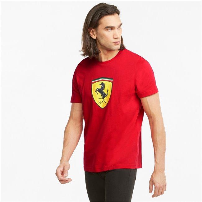 PUMA Ferrari Race Col B ShieldTee pánské tričko, Barva: červená, Materiál: bavlna, Pánské moderní triko z řady Ferrari Motosport, vyrobeno z vysoce kvalitního a měkkého materiálu. - Objednejte nyní online na Pumashop.cz.