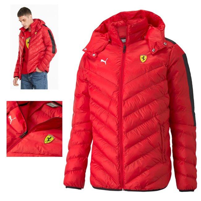PUMA Ferrari Race RCT 37.5 T7 Jkt pánská zimní bunda, Barva: červená, Materiál: nylon,  - Objednejte nyní online na Pumashop.cz.