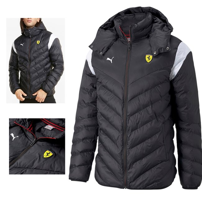 PUMA Ferrari Race RCT 37.5 T7 Jkt pánská zimní bunda, Barva: černá, Materiál: nylon,  - Objednejte nyní online na Pumashop.cz.